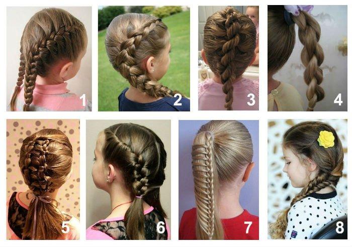 Модные причёски для девочек лёгкие