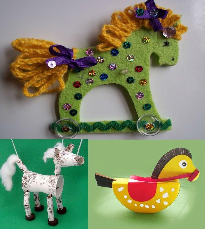 поделки новогодние 2014 лошадка своими руками
