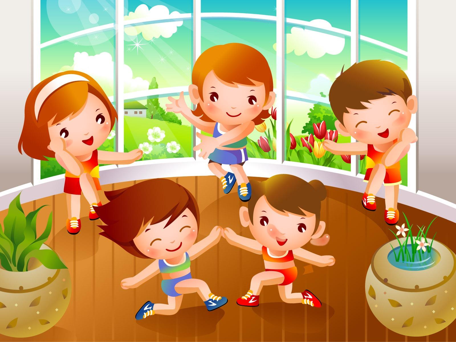 Картинки дети и спорт в детском саду