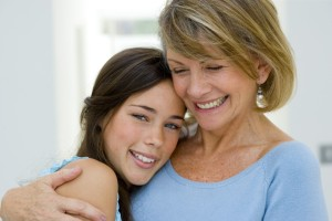 Мама с дочкой подростком