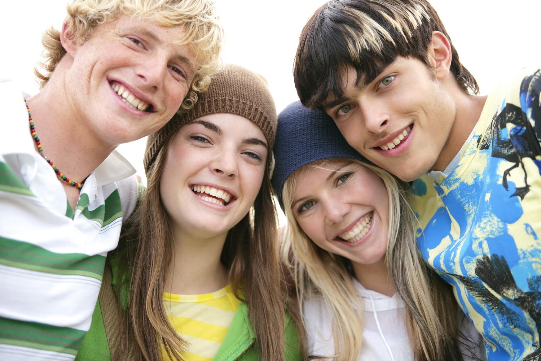 Подростки друзья