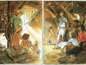 """Иллюстрация из книги """"Тимур и его команда"""""""