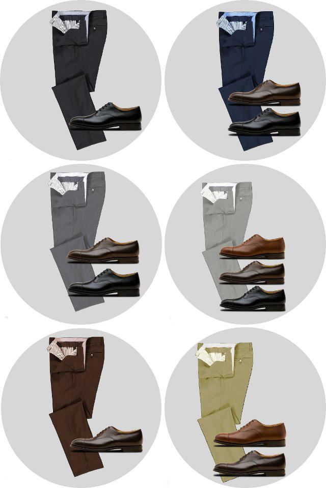 Сочетания брюк с лоферами