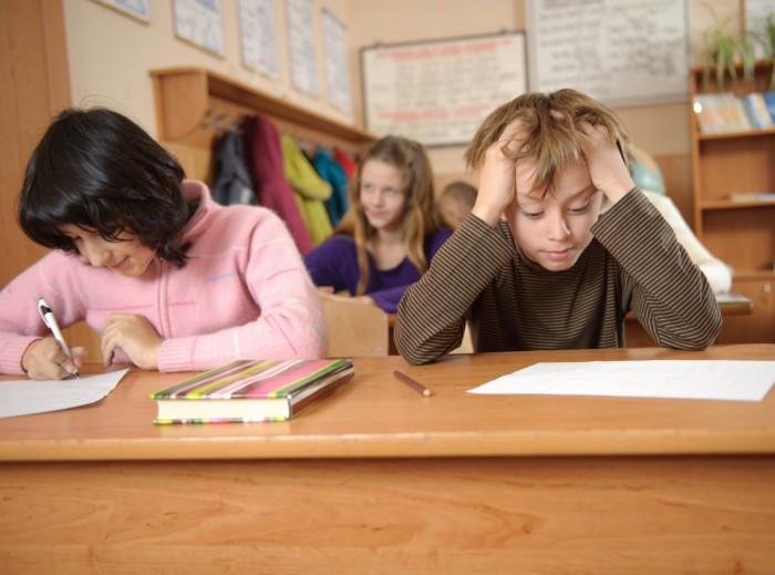 Ученик в классе
