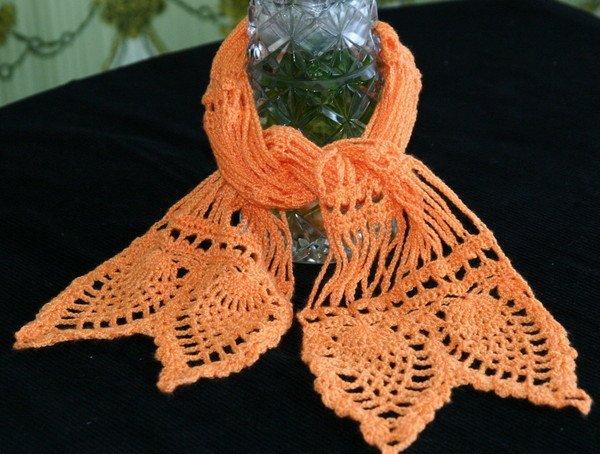Персиковый шарф