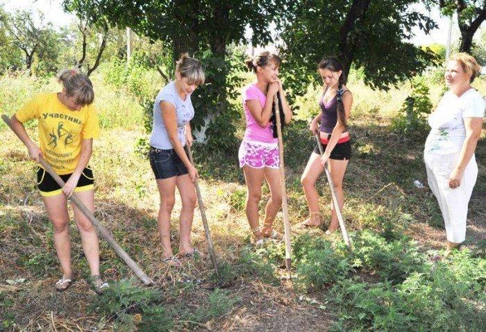 Дети на летней практике