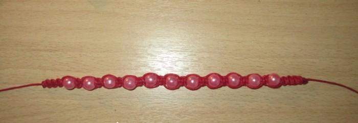 Доплетенный браслет