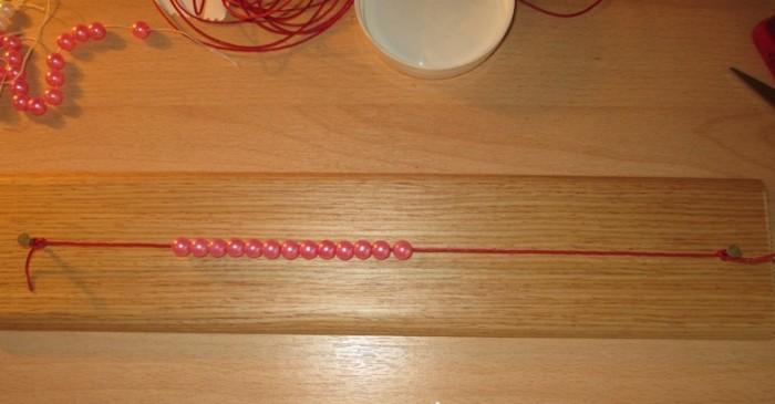 Кусок шнура для шамбалы около 40 сантиметров
