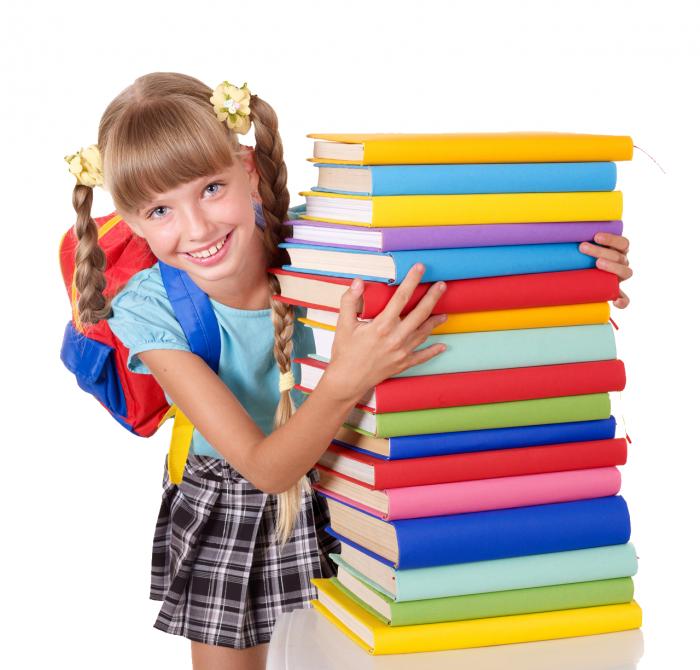 Школьница с книгами