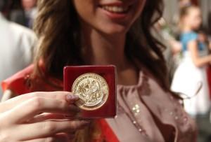 Выпускница с золотой медалью