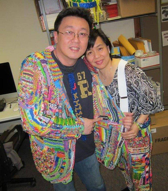 Чин Чонг с женой