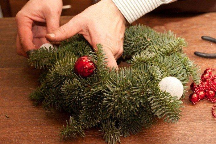 Мастер класс по изготовлению рождественского венка