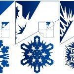 Выкройки оригами снежинок