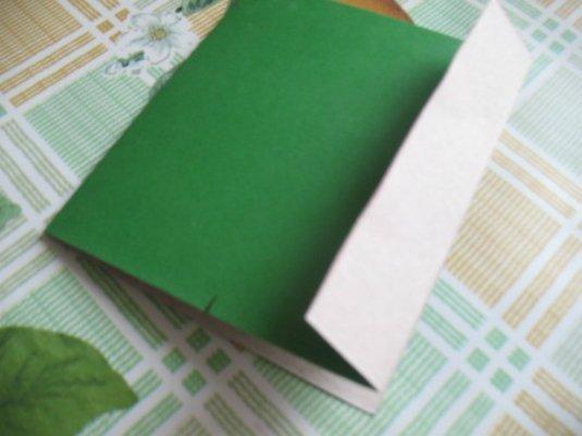 Отогнутая сторона картона