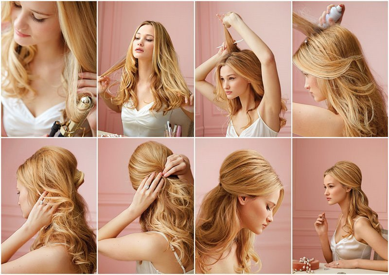 Быстрая укладка на средние волосы в домашних условиях пошагово