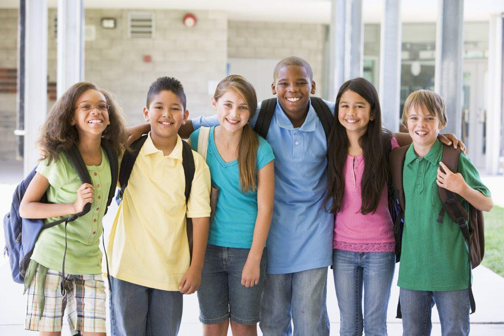 Школьники разных национальностей