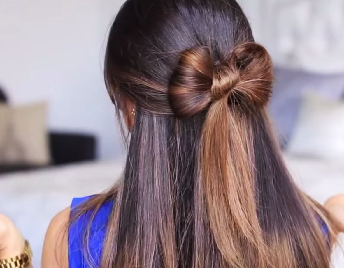 Прическа бантик из волос пошаговая инструкция картинки 9