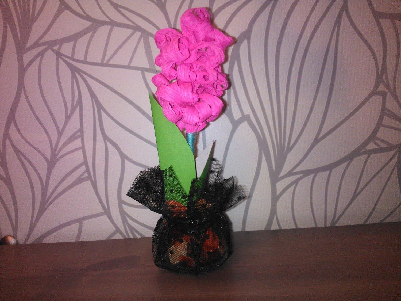 Как сделать цветок своими руками к 8