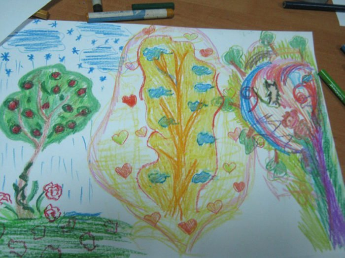 Нарисованные деревья