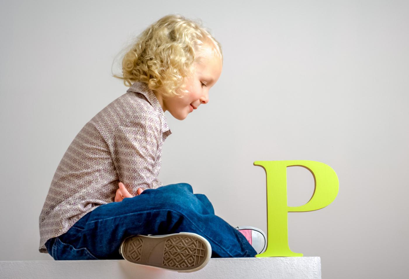 Ребёнок с буквой Р