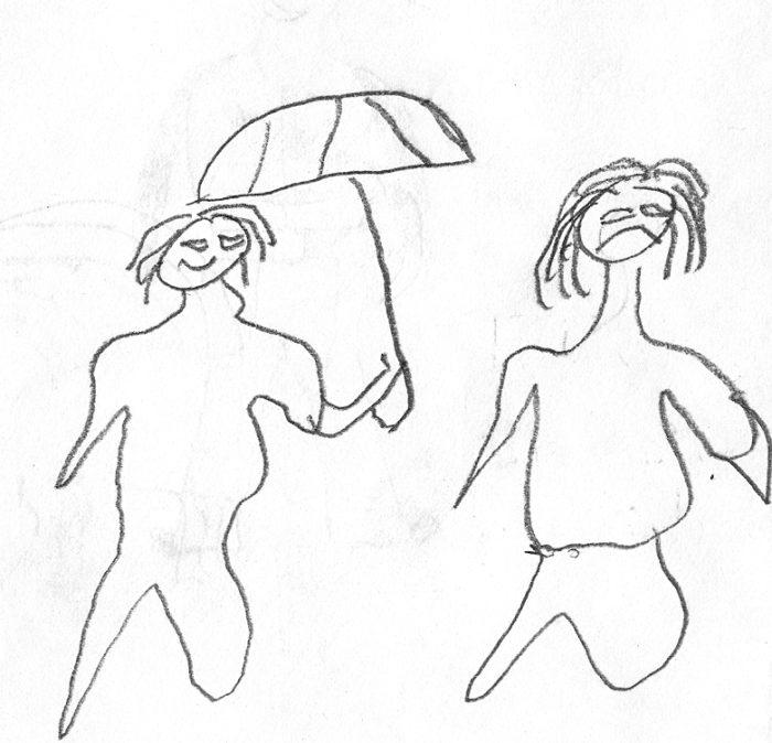 тестовый рисунок человека