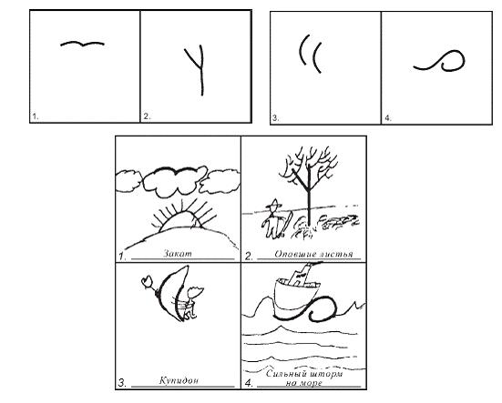 Пример выполнения субтеста «Закончи рисунок»