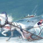 Снежная королевва везёт Кая во дворец