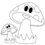 2 гриба с глазками