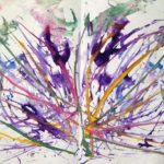 Абстрактные линии, много фиолетового