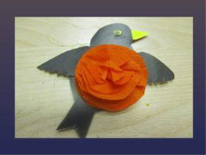 аппликация птицы