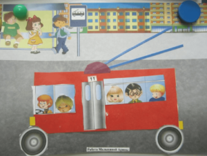 Аппликация троллейбус