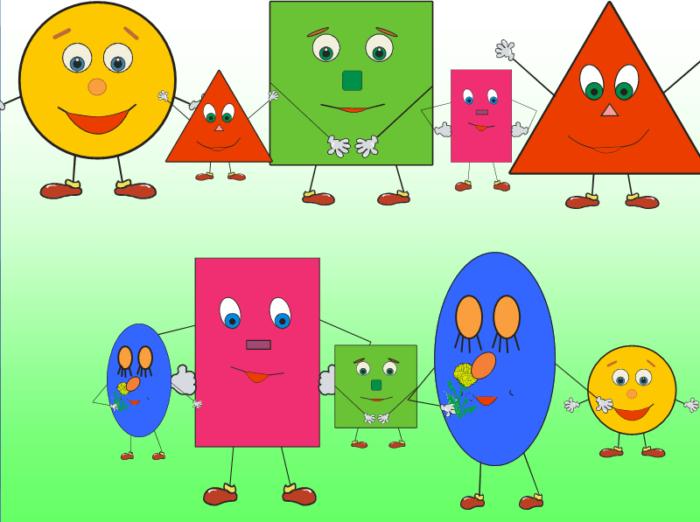 Цветные лица-геометрические фигуры
