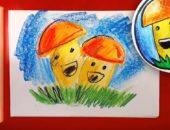 детский рисунок гриба