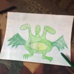 Этап 3 рисования змея Горыныча