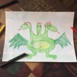Этап 4 рисования змея Горыныча