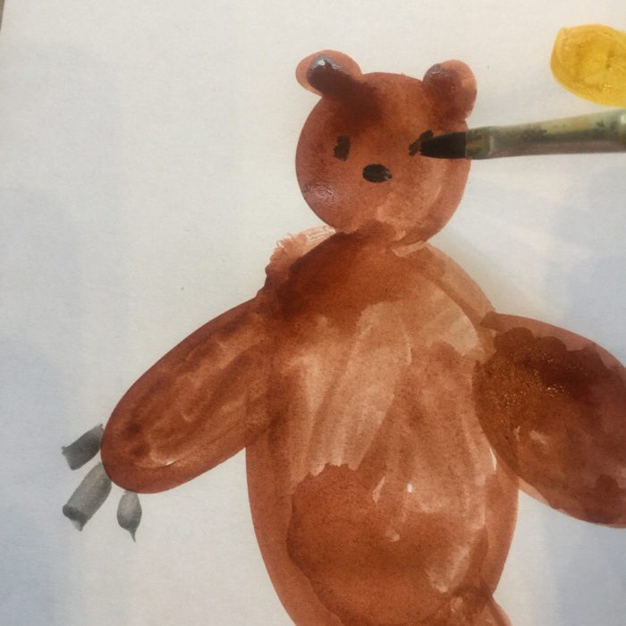 Рисунки морды медведя