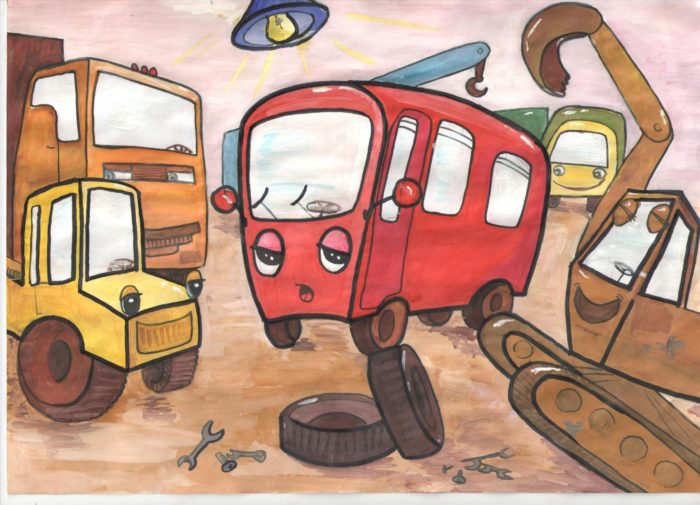 Грустный автобус