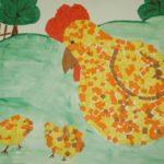 Курочка с цыплятами