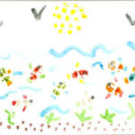 Море, птички, солнце пальчиками