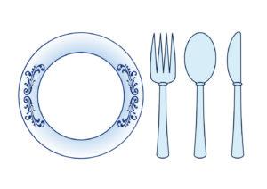 нарисованная посуда