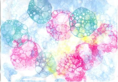Отпечатки мыльных пузырей-воздушные шары