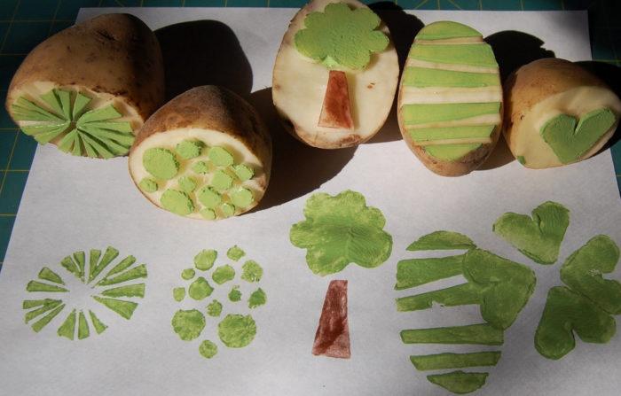 Печатание картофелем