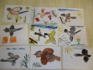 Рисунки птиц в подготовительной группе
