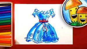 рисунок девочка в платье