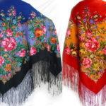 Роскошные павлопосадские платки