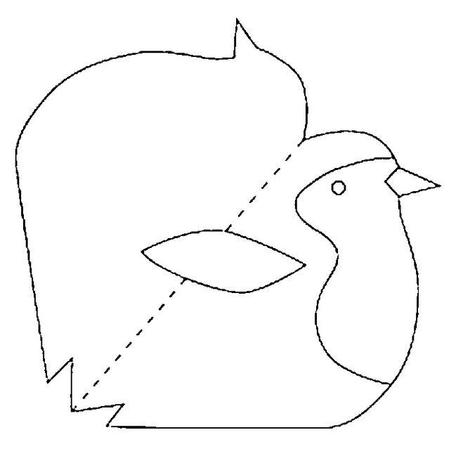 Открытка птички шаблон
