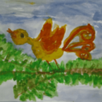 Сказочная птица