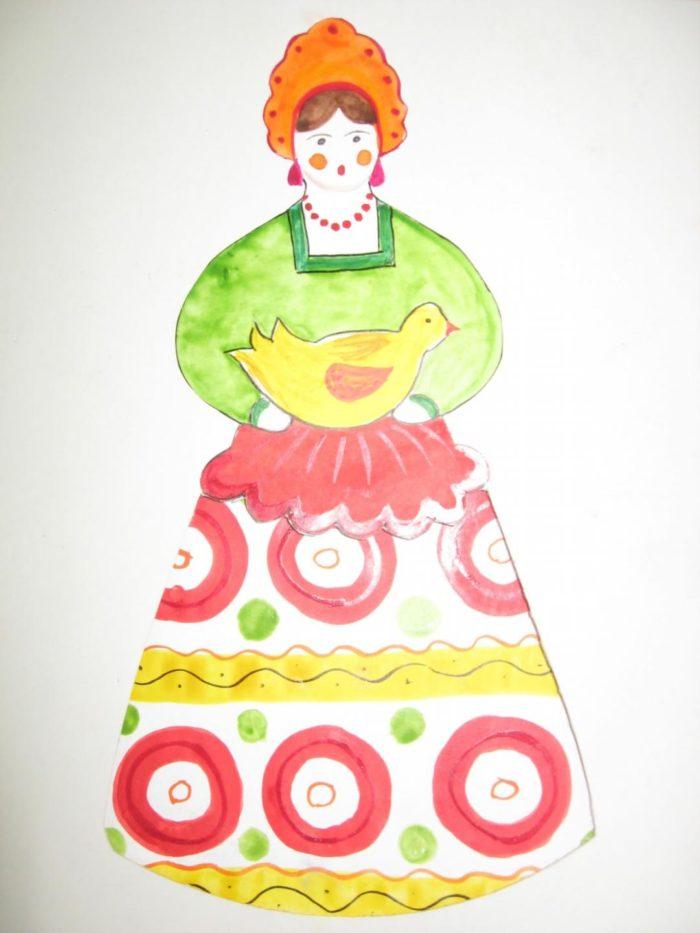 «Кукла в национальном костюме» — тема рисование в ... Татарский Национальный Костюм