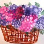 Ваза с цветами из мыльных пузырей