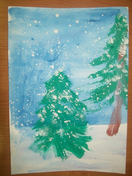 Зимние елочки